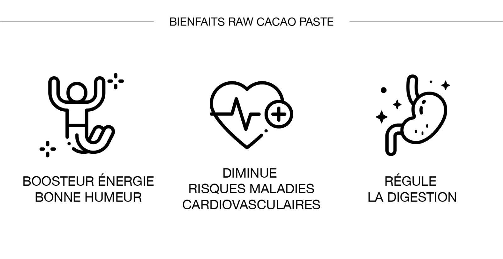 Raw cacao bienfaits