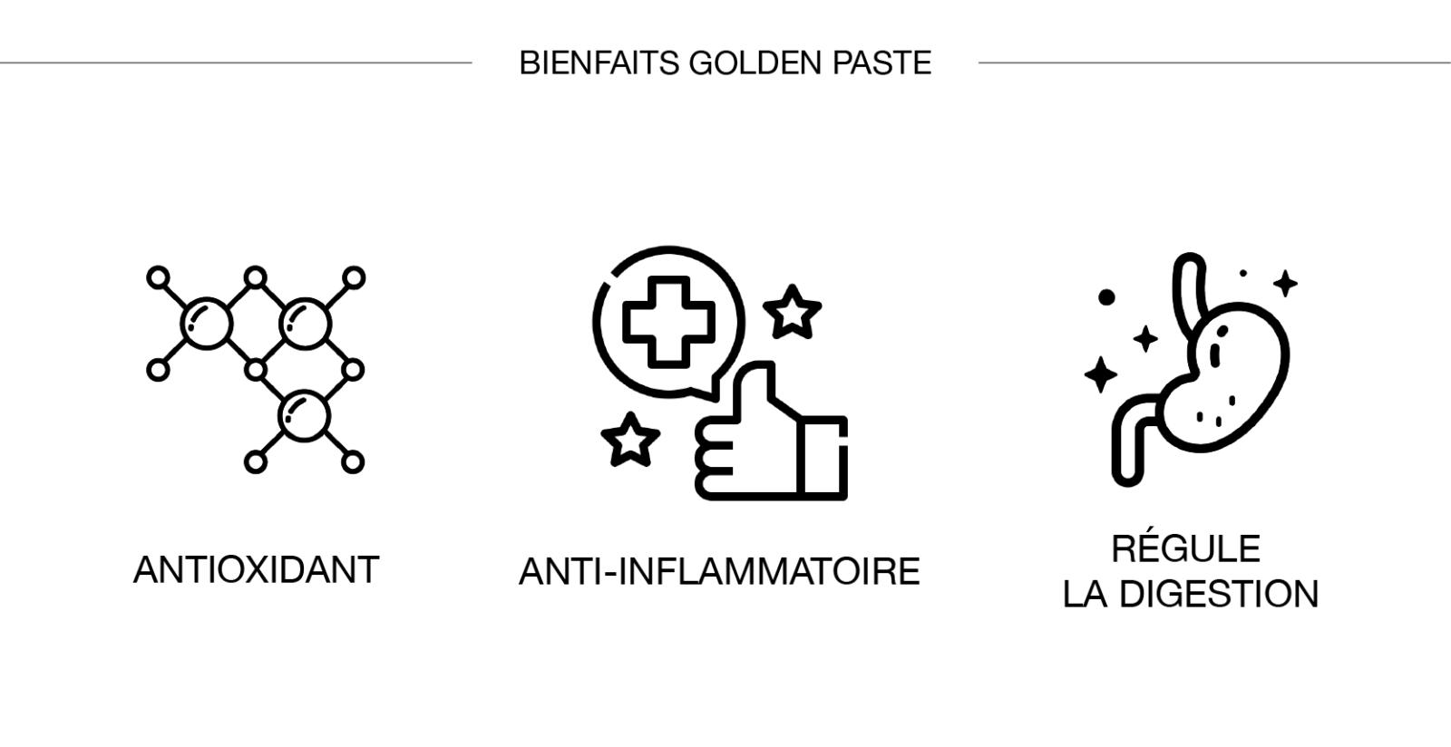 bienfait golden paste curcuma frais