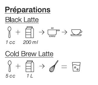 Black Latte au sésame noir et charbon végétal