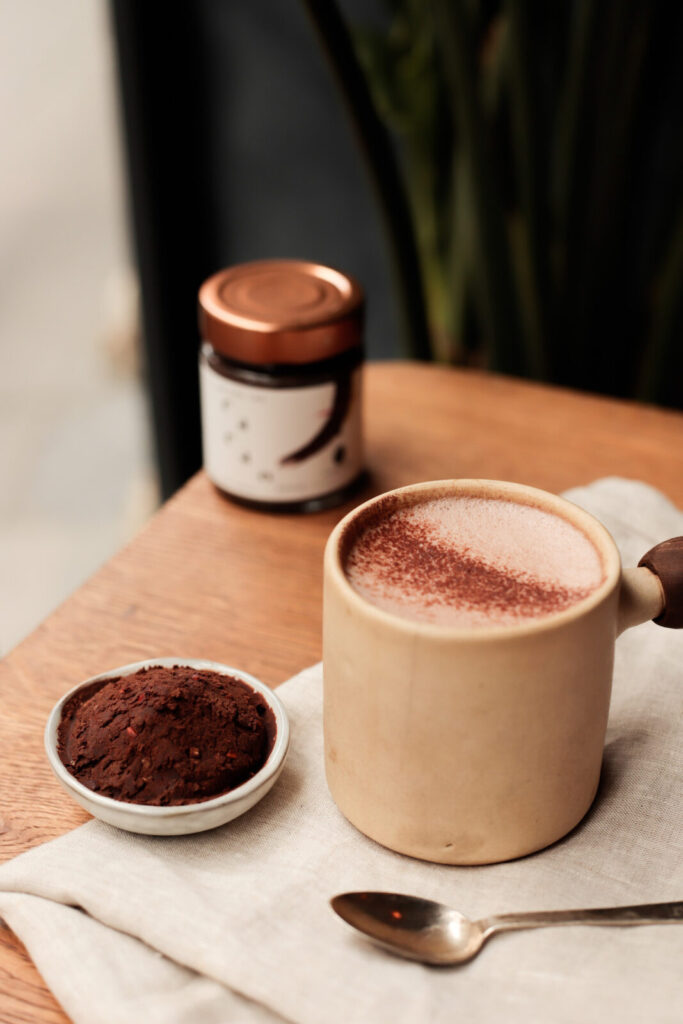 Spiced raw cacao Latte