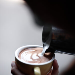 Spiced Raw cacao Latte Art